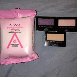 ALMAY EXPERT WEAR EYE ShADOW 3 & Remover Wipes 25t